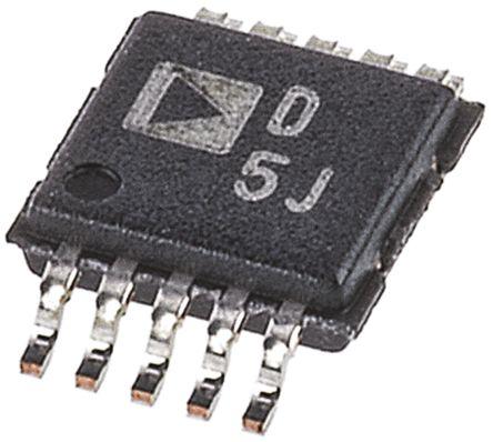 Analog Devices AD5624BRMZ, 4-channel 12 bit Serial DAC, 287ksps, 10-Pin MSOP