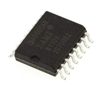 Analog Devices AD600ARZ, Dual Controlled Voltage Amplifier 30dB CMRR, 16-Pin SOIC W