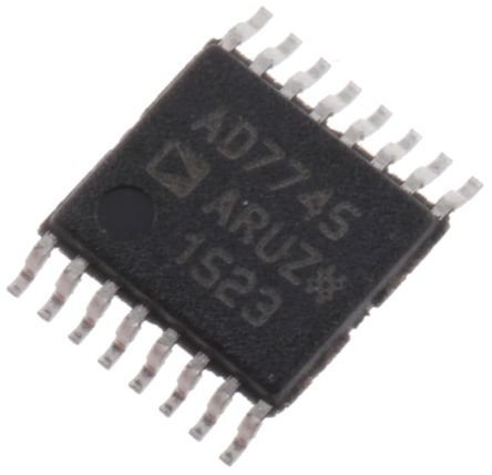 AD7745ARUZ, Capacitance to Digital Converter, 24 bit- 16-Pin TSSOP