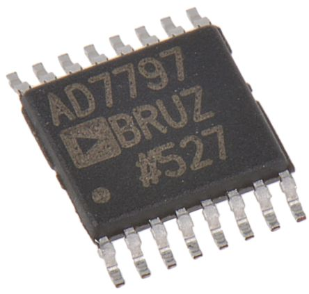 Analog Devices AD7797BRUZ, 24-bit Serial ADC Differential Input, 16-Pin TSSOP