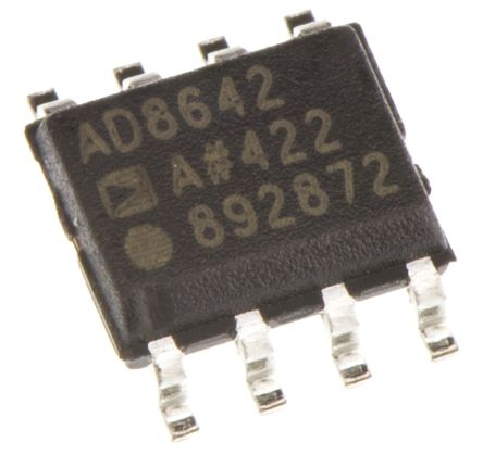 Analog Devices AD8642ARZ, Dual Op Amp, RRO, 3MHz, 6 → 24 V, 8-Pin SOIC