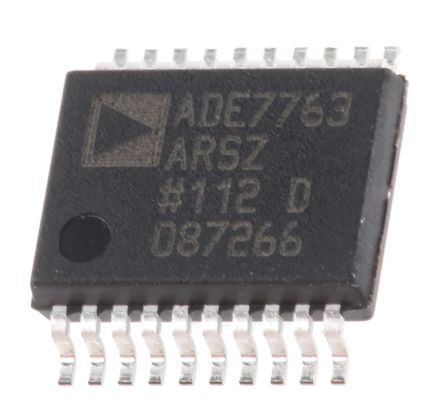 Analog Devices ADE7763ARSZ Energy Meter IC, 20-Pin SSOP