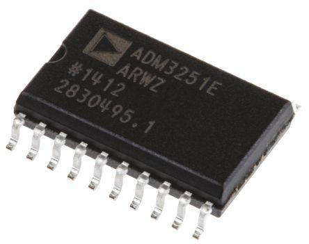 Analog Devices ADM3251EARWZ, Line Transceiver, EIA/TIA-232-E/ RS-232, 5 V, 20-Pin SOIC W