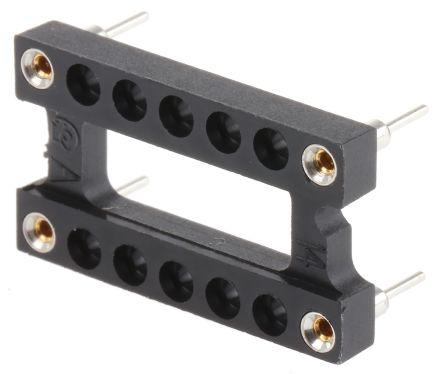 Aries Electronics 15.24mm 14 Way 2 Straight Through Hole Female Oscillator Socket Maximum of +105 °C