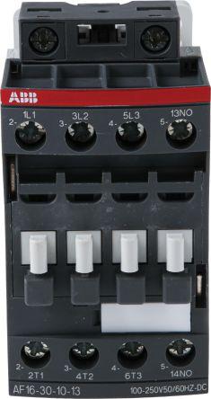 AF Range AF16 3 Pole Contactor, 3NO, 30 A, 7.5 kW, 100 → 250 V ac/dc Coil, Screw Terminal