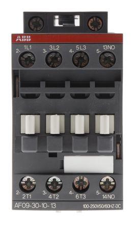 AF Range AF09 3 Pole Contactor, 3NO, 7 A, 4 kW, 100 → 250 V ac/dc Coil, Screw Terminal