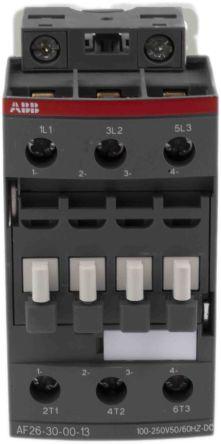 AF Range AF26Z 3 Pole Contactor, 3NO, 17 A, 11 kW, 100 → 250 V ac/dc Coil, Screw Terminal