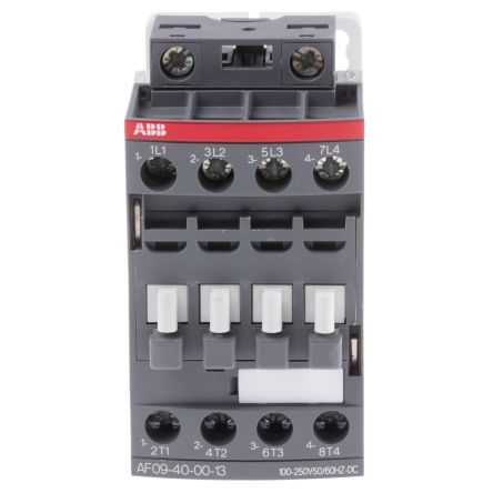 ABB 4 Pole Contactor, 25 A, 230 V ac Coil, AF Range, 4NO, 4 kW Abb Contactor Wiring Diagram on