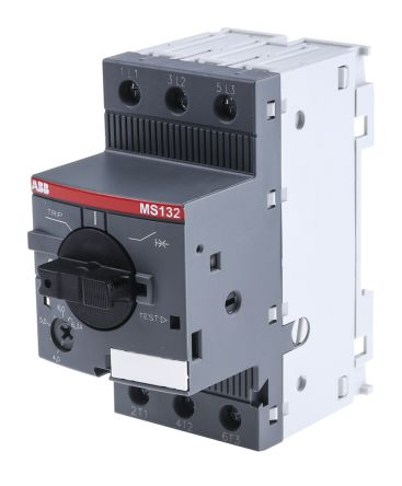 ABB 2.2 kW Manual 3P Motor Protection Circuit Breaker, 690 V ac, 1, 3 Phase, IP20
