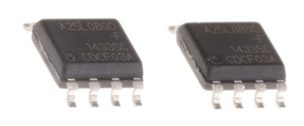 AMIC Technology A25L080O-F, SPI 8Mbit Flash Memory, 8ns; 3V, 8-Pin SOP