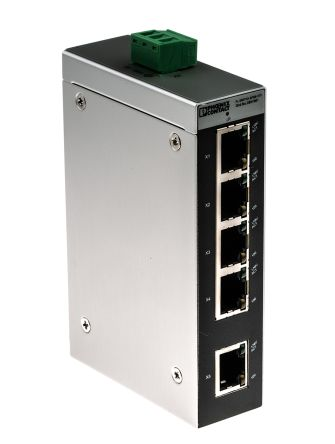 Phoenix Contact FL SWITCH SFNB 5TX Unmanaged Ethernet Switch Ethernet Device for use with Ethernet Network