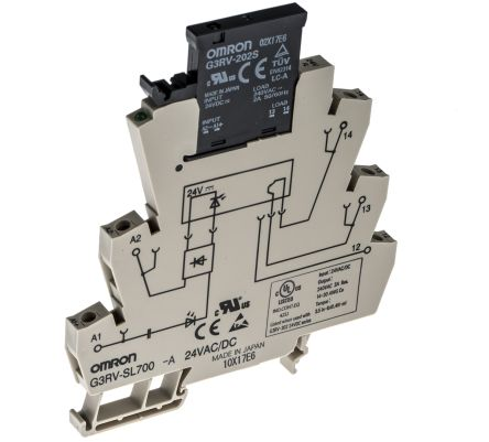 Omron 2 A SPST Solid State Relay, Zero Crossing, DIN Rail, Triac, 264 on