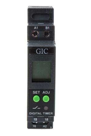 GIC Multi Function Timer Relay Screw 01 s 999 h SPDT 1