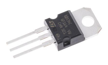 STMicroelectronics BDX34C PNP Darlington Pair, 10 A 100 V HFE:750, 3-Pin TO-220