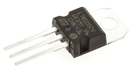 STMicroelectronics, 5 V Linear Voltage Regulator, 2A, 1-Channel 3-Pin, TO-220 L78S05CV