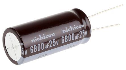 UPW1E682MHD | Nichicon Aluminium Electrolytic Capacitor 6800μF 25V