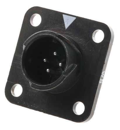 Hirose Miniature Panel Mount Connector, 4 Pole Socket HR34B Series