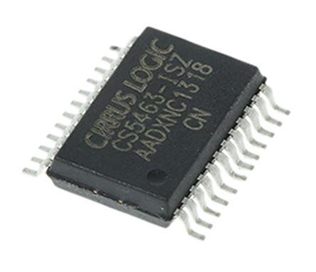Cirrus Logic CS5463-ISZ Energy Meter IC, 8 bit, 24-Pin SSOP