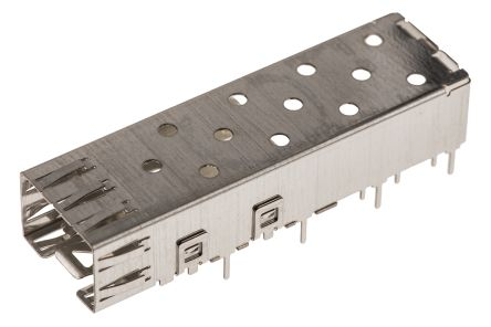 SFP Series Single Port Right Angle SFP Cage, Solder Termination product photo