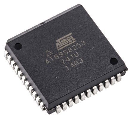 Atmel AT89S8253-24JU, 8bit 8051 Microcontroller, 24MHz, 2 kB, 12 kB Flash, 44-Pin PLCC