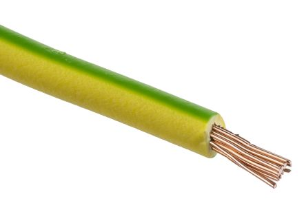 Lapp Green/Yellow, 100m Equipment Wire, 1.5 mm² CSA , 750 V 15 AWG