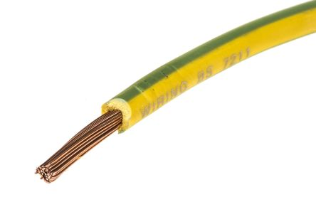 Lapp Green/Yellow, 100m Equipment Wire, 2.5 mm² CSA , 750 V 13 AWG