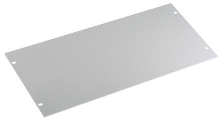 White Aluminium Panel : Schroff inch front panel u grey aluminium