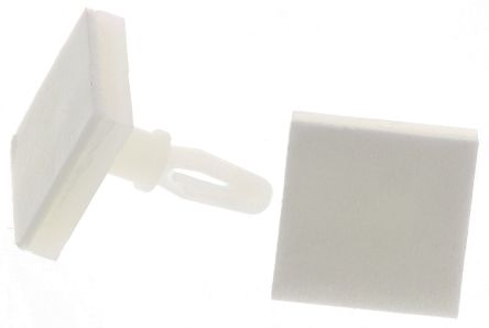 LCBSBM-5-01A2-RT, 7.9mm High Nylon PCB Support for 3.18mm PCB Hole, 12.7 x 12.7mm Base product photo