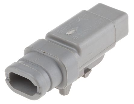 Deutsch DTM Series, 1 Row 2 Way Plug Connector, with Crimp Termination Method