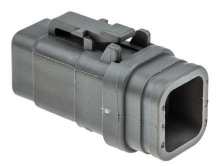 Deutsch DTM Series, 6 Way Plug Connector, with Crimp Termination Method