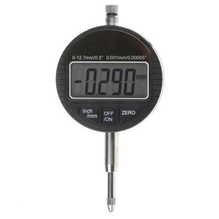 RS PRO Plunger Dial Indicator, Range Maximum of 12.5 mm