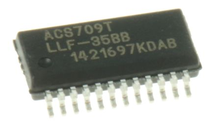 ACS709LLFTR-35BB-T Allegro Microsystems,, Unipolar Hall Effect Sensor, 3 3,  5V, 24-Pin QSOP
