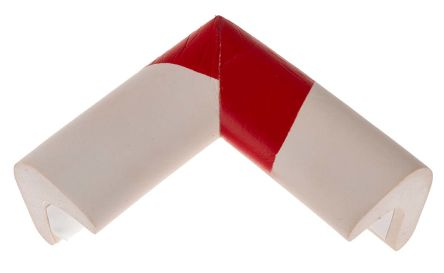 RS PRO Red/White Rubber 70mm x 30mm Corner & Edging Tape