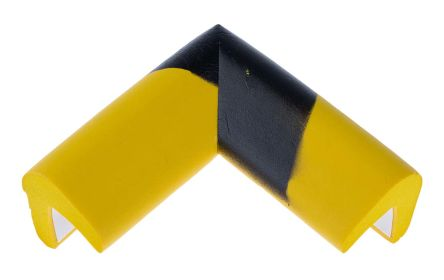 RS PRO Black/Yellow Rubber 70mm x 30mm Corner & Edging Tape