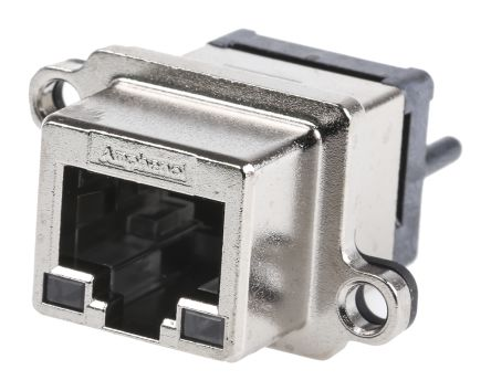 Amphenol Socapex Female RJ45 Connector Straight Through Hole