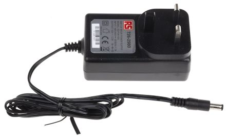 RS PRO, 36W Plug In Power Supply 12V dc, 3A, Level V Efficiency, 1 Output  Switched Mode Power Supply, Type G - British