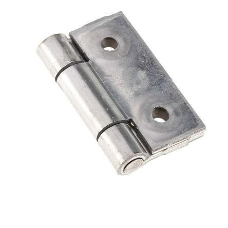 Stainless Steel Hinge with a Riveted Pin Screw, 40mm x 40mm x 2mm product photo