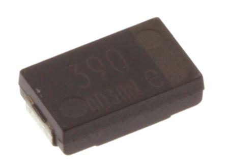 Panasonic Aluminium Polymer Capacitor 390μF 2.5V dc SP-Cap SX Series, Surface Mount Polymer, ±20% 7.3 x 4.3 x 1.9mm