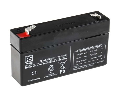 Lead Acid Battery >> Lead Acid Battery 6v 1 2ah