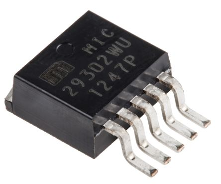 Microchip MIC29302WU-TR, LDO Regulator, 3A Adjustable, ±2% 5-Pin, D2PAK