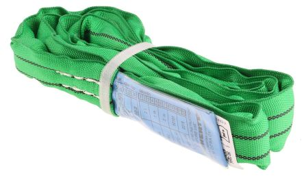Green round lifting sling,2m 2ton pull