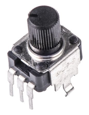 Alps Electric RK09K1130A8G 1 Gang Rotary Potentiometer with a 6 mm Dia. Shaft, 10kΩ, ±20%, 0.05W, Linear