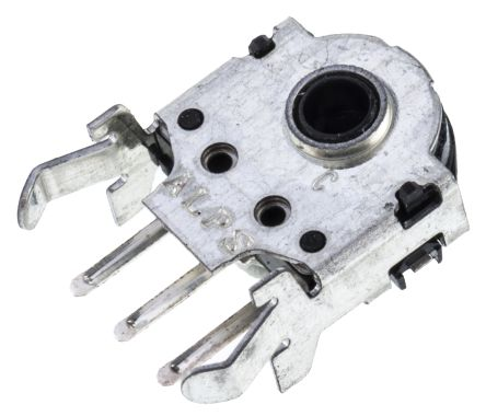 Alps Alpine 12 Pulse Incremental Mechanical Rotary Encoder with a 3.6 mm Hollow Shaft (Not Indexed), Through Hole