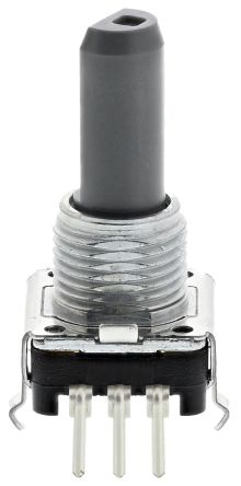Alps Alpine 12 Pulse Incremental Mechanical Rotary Encoder with a 6 mm Flat Shaft (Not Indexed), Through Hole