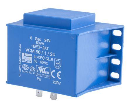 24V ac 1 Output Through Hole PCB Transformer, 50VA