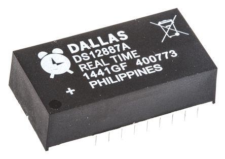 Maxim DS12887A+, Real Time Clock (RTC), 114B RAM, 24-Pin PDIP