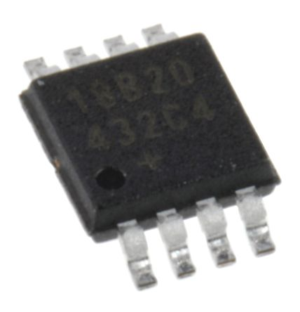 Maxim DS18B20U+, Temperature Sensor -55 → +125 °C ±0.5°C 1-Wire, 8-Pin μSOP