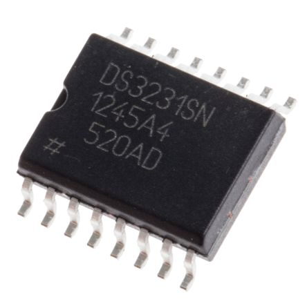 Maxim DS3231SN#, Real Time Clock (RTC) Serial-I2C, 16-Pin SOIC