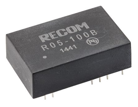 Recom 5W Isolated DC-DC Converter Through Hole, Voltage in 4.5 → 6 V dc, Voltage out 40 → 120V dc