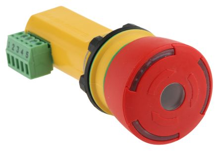 ABB Inca-1 Tina Emergency Button, Twist to Reset, Red 32.5mm Mushroom Head